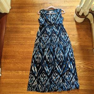 Chico's Blue Print Maxi Dress